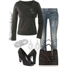 A fashion look from February 2013 featuring G-Star jeans, Stuart Weitzman pumps and Dolce&Gabbana shoulder bags. Browse and shop related looks.