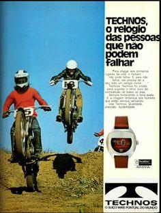 Anúncio relógios Technos - 1973