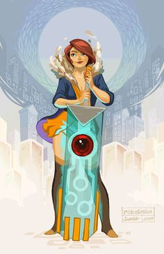 "robotnicc: "" Red fan art for Supergiant Games's Transistor. 8) """
