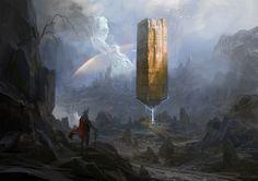 Floating ruins, Lee b on ArtStation at https://www.artstation.com/artwork/floating-ruins