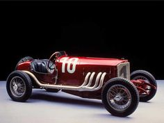 1924 Mercedes Benz 120HP. This car was painted red in order to pass as an Alfa Romeo, so the die-hard Alfa fans wouldn't throw rocks at it. This allowed Mercedes to win the 1924 edition of Targa Florio.