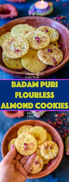 One of the popular sweet for Diwali; Badam Puri is super addictive and amazing to try at home! In a wink Diwali will be here! The festiviti. Indian Desserts, Indian Sweets, Indian Food Recipes, Vegetarian Recipes, Healthy Recipes, Puri Recipes, Sweets Recipes, Baking Recipes, Diwali Recipes