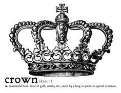 Crown Dictionary Art Print