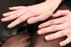 Ombré glitter nails at Jenny Packham Fall 2013