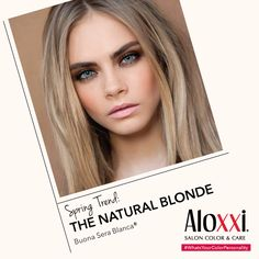 """Spring Hair Trend: The """"Natural"""" Blonde. Are blondes going more natural in your salon? 