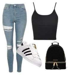 """Untitled #87"" by kittycatzaf on Polyvore featuring Topshop, adidas and MICHAEL Michael Kors"