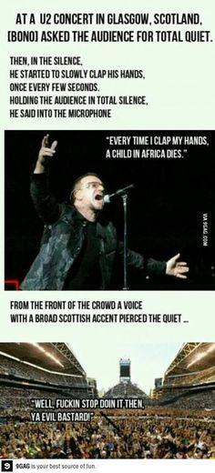 Best. Comeback. Ever. No hate to Bono, though. I love U2!!