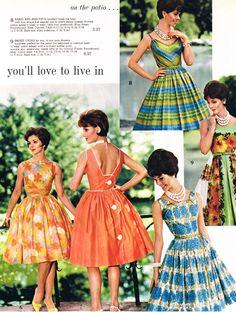 Spiegel summer dresses 1962