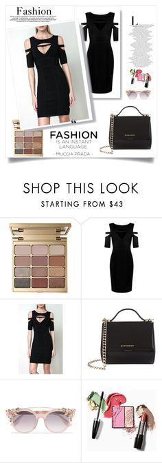 """""""Black Dresses For Women-Legerbabe Kasia Keyhole Mesh Dress"""" by legerbabedress ❤ liked on Polyvore featuring Stila, Givenchy and Jimmy Choo"""