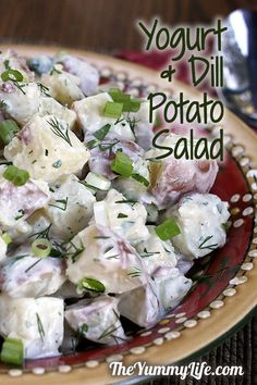 Yogurt Dill Potato Salad. A lighter, healthy take on creamy potato salad. TheYummyLife.com