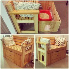 9 ideas ingeniosas para esconder la caja de arena del gato - VIX