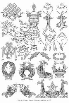 Буддийский альбом по основам рисования, танкописи, символики и орнаментам - Символика тибетского буддизма - Фотографии - Буддийское видео, аудио, фотографии (мультимедиа)
