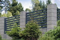 Modular fence system ROMA Classic - Concrete fences - producer of fences, posts, blocks and hollow bricks - JONIEC Fence Wall Design, Modern Fence Design, Balcony Railing Design, Gate House, House Entrance, Concrete Fence Wall, Classic Fence, Metal Garden Gates, Garden Architecture