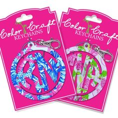 Pretty Key Chains designed by a Nurse. I love the bright, cheerful colors! Get one at nurseborn.com