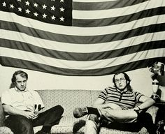 [Vintage VCU] The year was 1973. Here's a #TBT from VCU's Cobblestone Yearbook, featuring Brian Johnson, econ major, and Paul Hagan, history major.