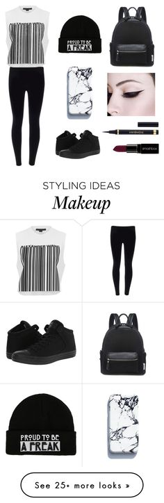 """""""Black&White"""" by mckenzie-cassidy on Polyvore featuring Converse, Alexander Wang, Yves Saint Laurent and Smashbox"""