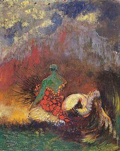Odilon Redon - Mermaid Oil on canvas . 1900