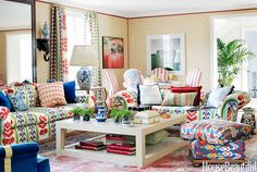 Colorful Preppy House - Preppy Decorating Ideas - House Beautiful