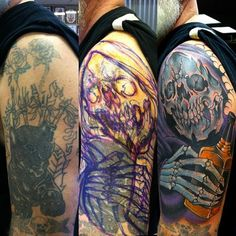 What does cover up tattoo mean? We have cover up tattoo ideas, designs, symbolism and we explain the meaning behind the tattoo. Skull Rose Tattoos, Bone Tattoos, All Tattoos, Tatoos, Cover Up Tattoos, Tattoo Drawings, Tattoo Sleeve Designs, Sleeve Tattoos, Skull And Bones