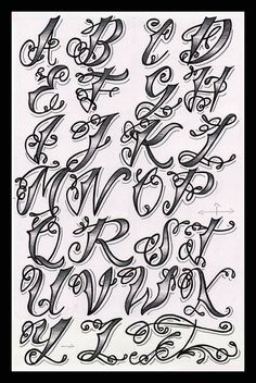 Cholo Tattoo Alphabet Flickr Photo Sharing - Tattoo Images
