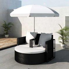 Gartenlounge Poly Rattan Sonnenliege ! Sitzgruppe Gartengarnitur Garten  Garnitur Outdoor Lounge Möbel Gartengarnituren #Gartengarnitur #