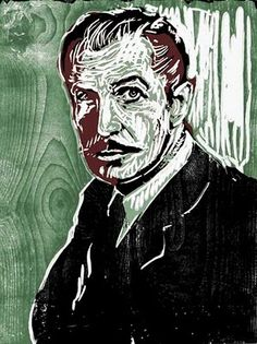 Dirk Hagner: Vincent Price, reduction woodcut