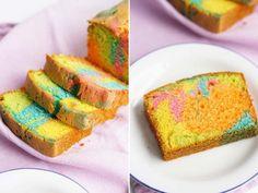 gekleurde cake