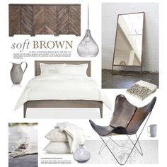"""Soft Brown Bedroom"" by bellamarie on Polyvore"