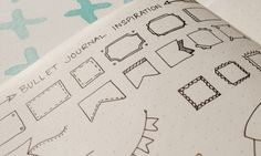 Bullet Journal Header Inspiration. Header & Banners for your bullet journal collections and daily pages... and so on... :) Click to see the whole page...