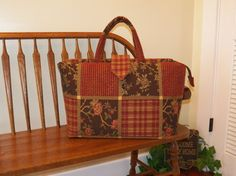 Clay Country Chenille Tapestry Bag 177-My BIG by SignsofWelcome