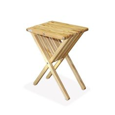 GloDea Xquare X45 Tall Wooden Patio End Table | from hayneedle.com