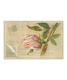 Love this Pink Rosebud Place Mat - Set of 24 on #zulily! #zulilyfinds