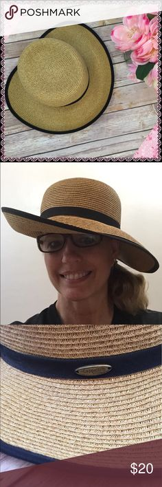 Capelli Straw Sun Hat Darling hat for beach, kayaking, hiking or gardening. Brim is bendable and can be worn up, down or half and half. No brim in back so it works well with a ponytail. New w/o tag. Capelli of New York Accessories Hats