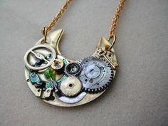 Doctor Who Necklace made from Antique Waltham pocket watch
