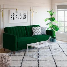 Style Your Living Room with A Futon - Living Room : Home Decorating Ideas Tiny Living Rooms, Living Room Green, Small Space Living, Living Spaces, Space Saving Furniture, Furniture Decor, Living Room Furniture, Living Room Decor, House Furniture
