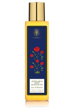 Extra Rich Almond Body Massage Oil Rose & Mandarin by FORREST ESSENTIALS. Shop now at perniaspopupshop.com #beauty #perniaspopupshop #essentials #products #ayurvedic #natural #amazing