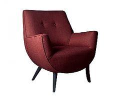 Hane 78, masif malzemenin sıcaklığıyla çarpıcılığını arttırıyor.  BERJER Retro Armchair, Office Designs, Funky Furniture, Bedroom Ideas, Home Decor, Products, Decoration Home, Room Decor, Home Interior Design