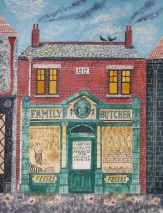 Quaint Storefront Drawings - Emily Sutton Portrays England in Her Cute City Illustration Series (GALLERY)