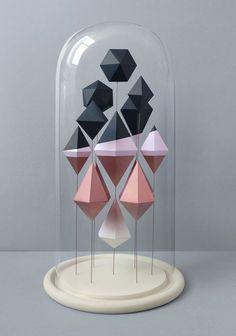 Cloche en verre deco unique cabinet vintage retro minimaliste scandinave nordique 4
