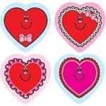 Shape Stickers Valentine Hearts