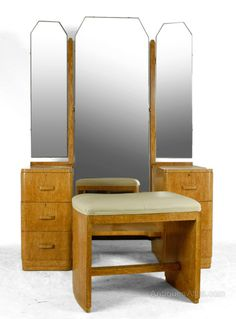 Art Deco Dressing Table In Karelian Birch C1930 FurnitureFurniture StylesVintage