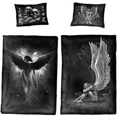 double sided single quilt cover and pillow case enslaved angel - £38
