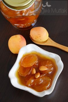 Apricot Jam in 21 Minutes - Healthy Kitchen, Chutneys, Breakfast Items, Turkish Recipes, Cake Recipes, Bread Recipes, Tea Time, Brunch, 21st, Pudding