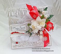 From our Design Team! Card by Anna Karpińska featuring these Dies - Christmas Hill Border Die, Scroll Bracket Die, Seaweed Border Die, Yin Yang Border Die, Holly Flourish Die  :-) Shop for our products here - shop.lalalandcrafts.com  More Design Team inspiration here - http://lalalandcrafts.blogspot.ie/2015/09/inspiration-wednesday-any-holiday.html