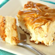 No Bake Caramel Swirl Apple Butter Cheesecake Recipe
