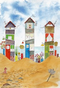 http://www.ebay.co.uk/itm/ORiGiNaL-watercolour-ltd-ed-print-BeACH-HoUSES-seascape-beach-hut-dog-cat-/201388342515?pt=LH_DefaultDomain_3
