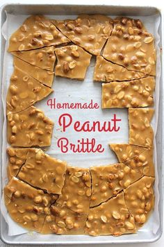 Homemade Peanut Brittle- Perfect traditional recipe that is great for Christmas gifts, holiday candy trays, or all year long sweet. for best friends candy Homemade Peanut Brittle Holiday Candy, Holiday Desserts, Holiday Baking, Holiday Treats, Holiday Recipes, Christmas Treats For Gifts, Homemade Christmas Gifts Food, Christmas Dessert Recipes, Traditional Christmas Desserts