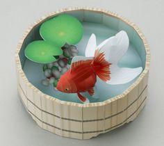 夏の風情が漂う「金魚」のクラフトをお楽しみください。