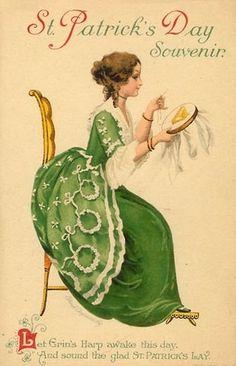 St. Patrick's Day postcard 1910s