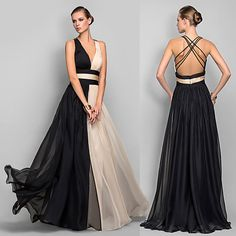 Afbeeldingsresultaat voor two colour evening dress Formal Prom, Formal Dresses, Long Party Gowns, Dresser, Bridesmaid Dresses Plus Size, Bridesmaids, Prom Dresses Online, Beautiful Dresses, Evening Dresses